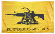 Gadsden Don't Tread On My Rights Double Sided 3x5 Flag