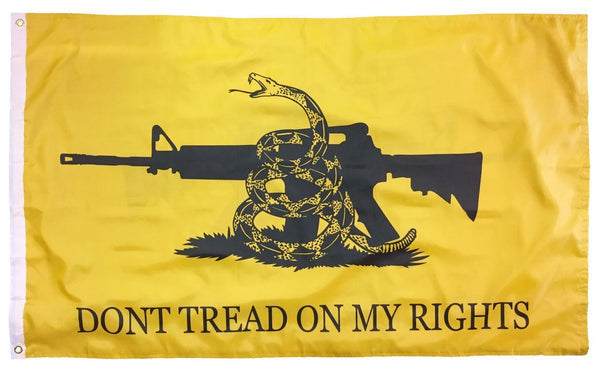 Gadsden Don't Tread On My Rights Double Sided 3x5 Flag - Novelty Flags - I AmEricas Flags