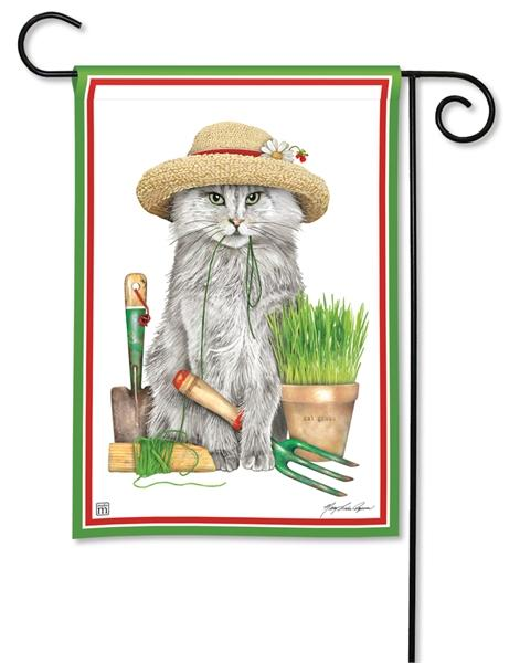 Gardening Kitty Garden Flag