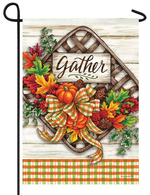 Gather Basket Garden Flag