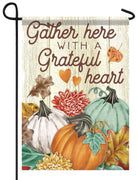 Gather With A Grateful Heart Garden Flag