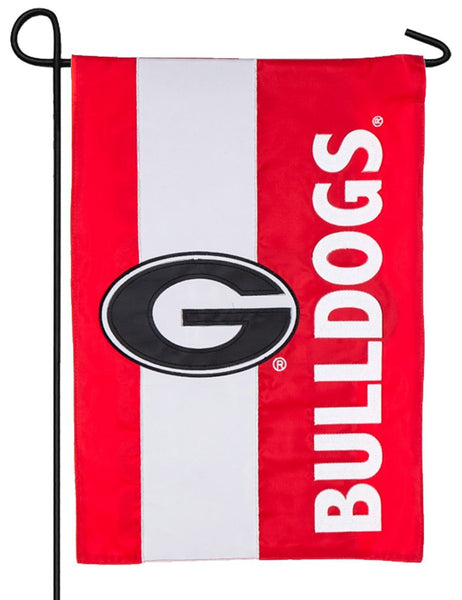 Georgia Bulldogs Embellished Applique Garden Flag - Sports Flags/College and University/Georgia University Flags - I AmEricas Flags