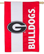Georgia Bulldogs Embellished Applique House Flag