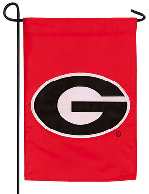 Georgia Bulldogs Red Applique Garden Flag