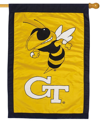 Georgia Tech Yellow Jackets Applique House Flag