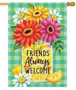 Gerberas and Lemons House Flag