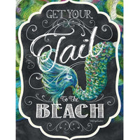 Get Your Tail to the Beach House Flag