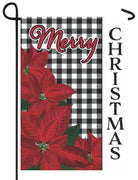 Gingham Christmas Garden Flag