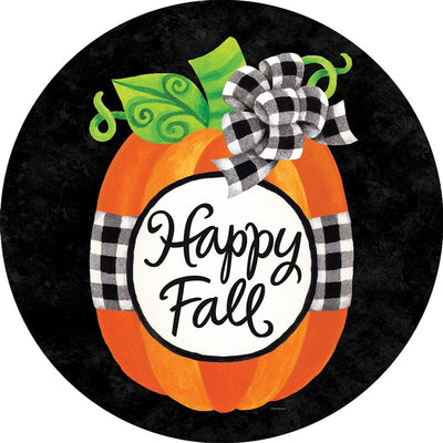 Gingham Pumpkin Happy Fall Accent Magnet