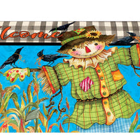 Gingham Scarecrow Mailbox Cover