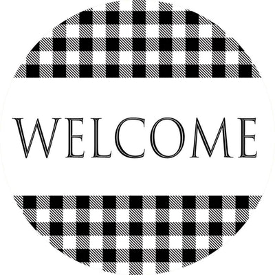 Gingham Welcome Accent Magnet