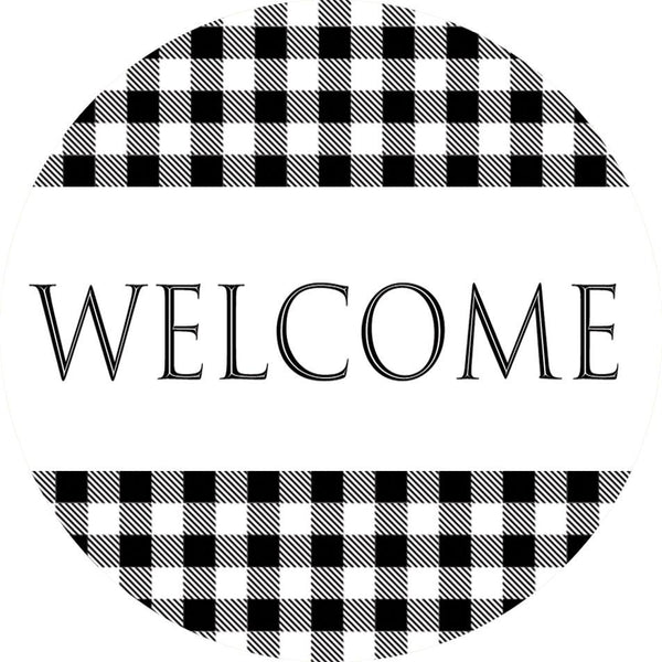 Gingham Welcome Accent Magnet - I AmEricas Flags