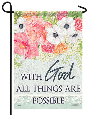 God All Things Possible Garden Flag