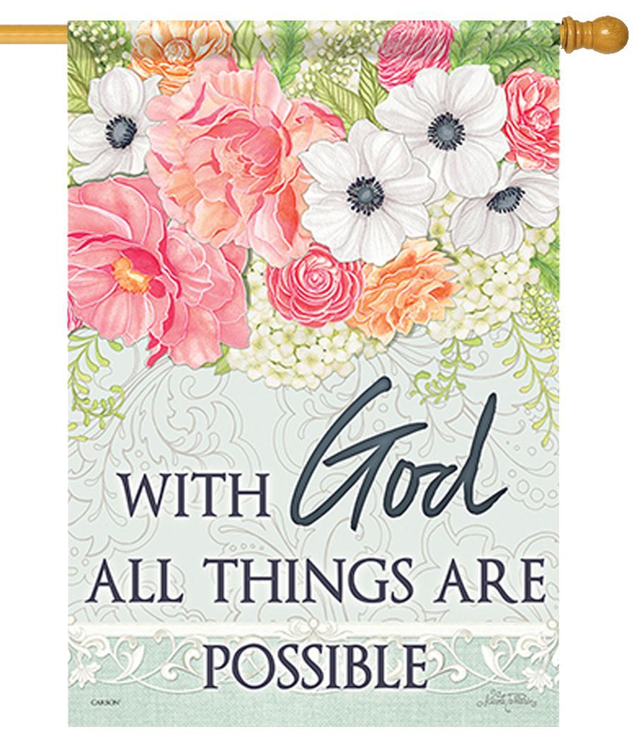 God All Things Possible House Flag