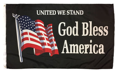 God Bless America United We Stand 3x5 Flag