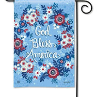 God Bless America Wreath Garden Flag