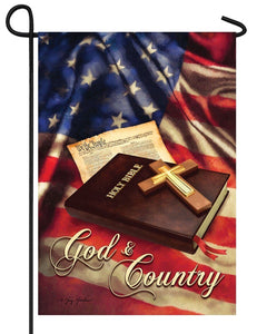 God and Country Garden Flag