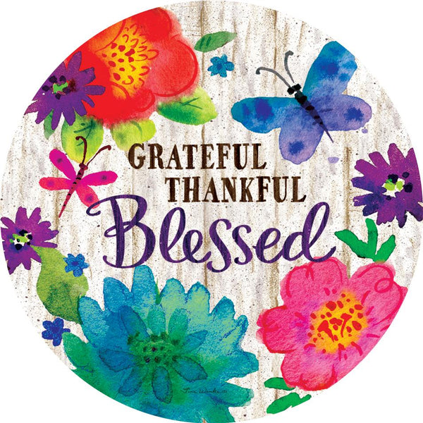 Grateful Thankful Blessed Accent Magnet - I AmEricas Flags