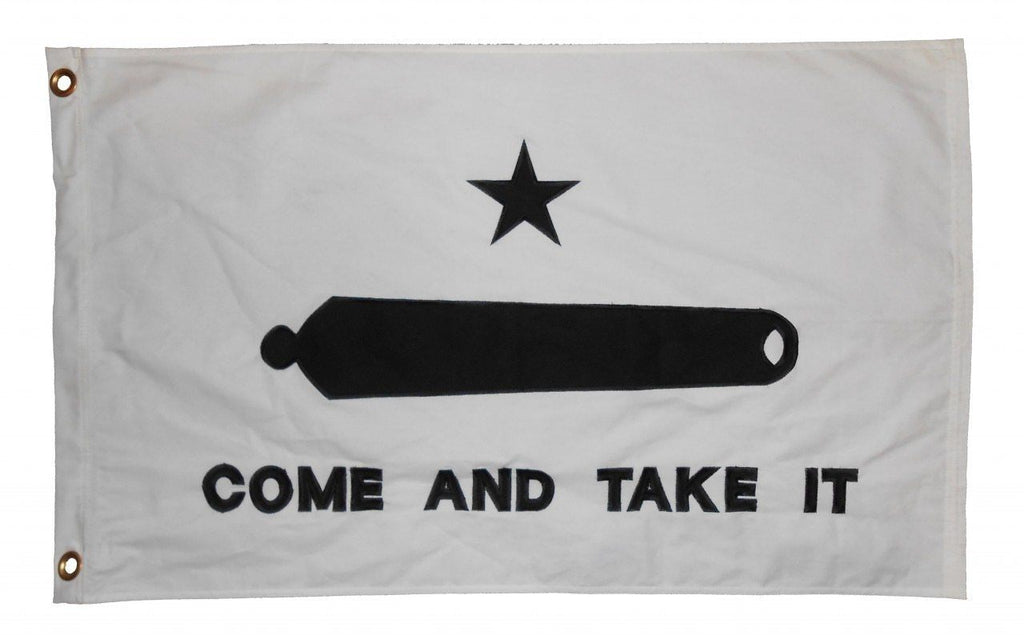 Gonzales Come and Take It Flag 2x3 Sewn Cotton