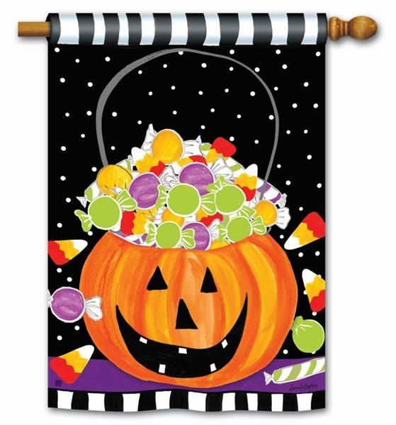 Halloween Candy House Flag