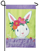 Happy Easter Bunny Double Applique Garden Flag
