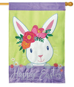 Happy Easter Bunny Double Applique House Flag