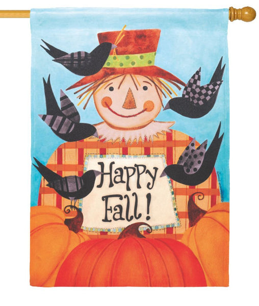 Happy Fall Scarecrow House Flag - All Decorative Flags/Seasons/Fall Flags - I AmEricas Flags