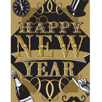 Happy New Year House Flag - All Decorative Flags/Holidays/New Years Flags - I AmEricas Flags