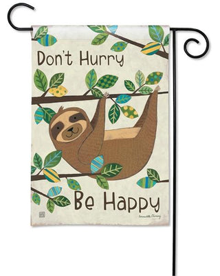Happy Sloth Garden Flag