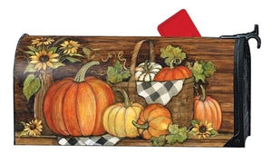 Harvest Gathering Mailbox Cover