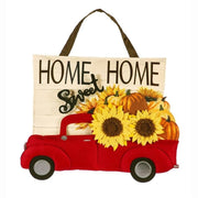 Harvest Red Truck Decorative Door Hanger