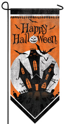 Haunted Mansion Double Applique Garden Banner
