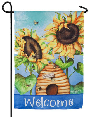 Hello Honey Suede Reflections Garden Flag