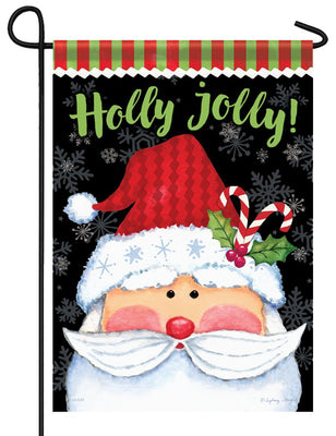 Holly Jolly Santa Garden Flag
