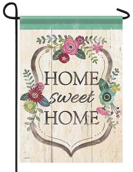 Home Sweet Home Floral Garden Flag