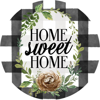 Home Sweet Home Gingham Accent Magnet