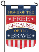 Home of the Free Double Applique Garden Flag