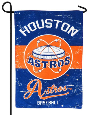 Houston Astros Vintage Linen Decorative Garden Flag