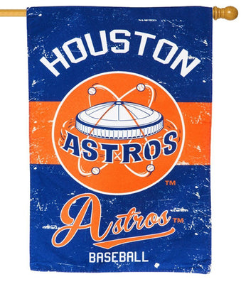 Houston Astros Vintage Linen Decorative House Flag