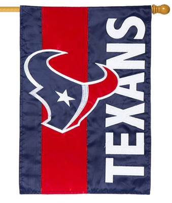 Houston Texans Embellished Applique House Flag