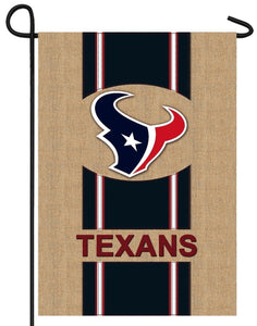 Houston Texans Burlap Garden Flag