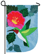 Hummingbird Beauty Double Applique Garden Flag