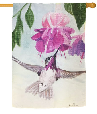 Hummingbird in Flight Sublimated House Flag
