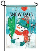 I Heart Snow Days Garden Flag