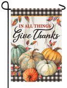 In All Things Give Thanks Garden Flag