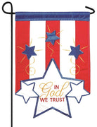 In God We Trust Double Applique Garden Flag