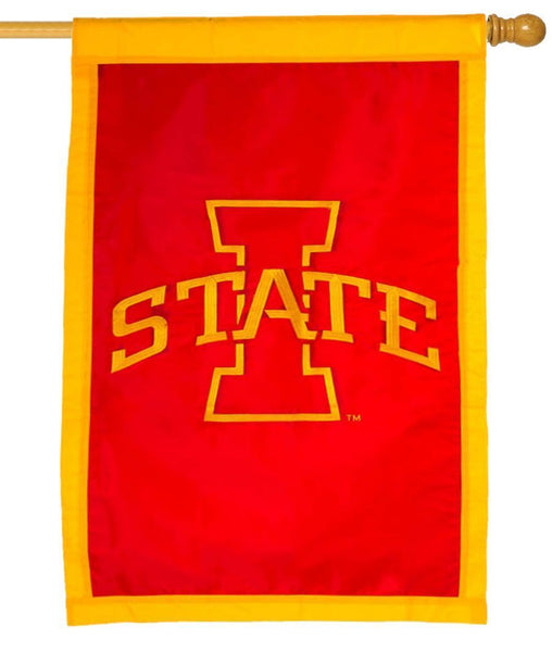 Iowa State University Applique House Flag