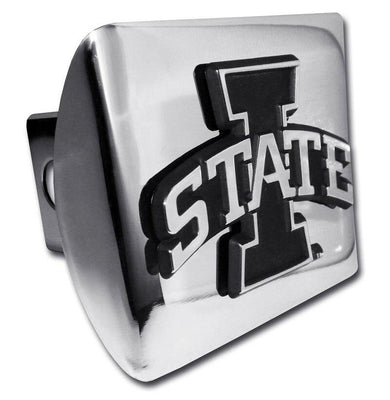 Iowa State University Shiny Chrome Hitch Cover