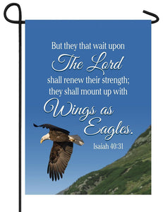 Isaiah 40:31 Eagles Garden Flag