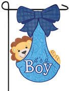 It's A Boy Cub Double Applique Garden Flag